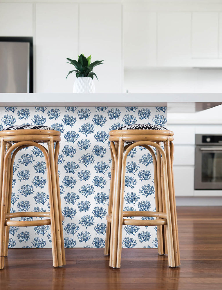 NW38002 coastal coral reef peel and stick removable wallpaper kitchen from NextWall