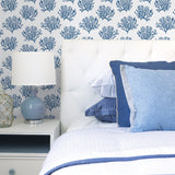 NW38002 coastal coral reef peel and stick removable wallpaper bedroom from NextWall