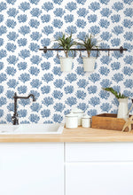 NW38002 coastal coral reef peel and stick removable wallpaper backsplash from NextWall