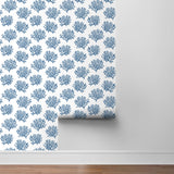 NW38002 coastal coral reef peel and stick removable wallpaper roll from NextWall