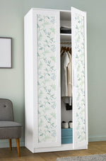 NW38204 watercolor leaf trail botanical peel and stick wallpaper closet from NextWall