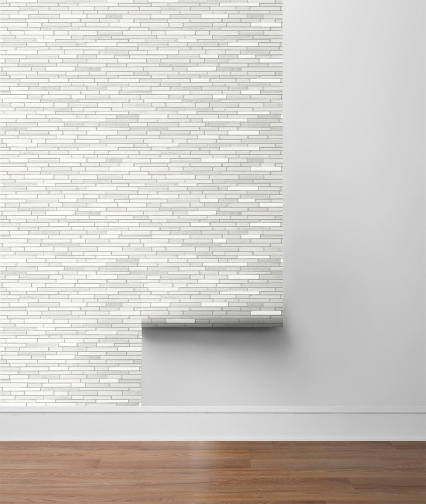NW38400 faux mosaic tile peel and stick removable wallpaper roll from NextWall