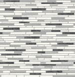 NW38410 faux mosaic tile peel and stick removable wallpaper from NextWall