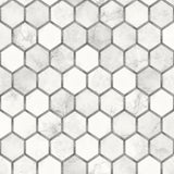 NW38615 inlay hexagon geometric peel and stick removable wallpaper from NextWall