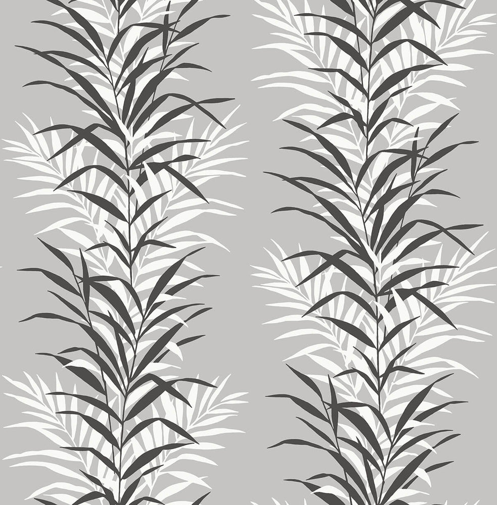 NextWall Leaf Stripe Botanical Peel and Stick Removable Wallpaper