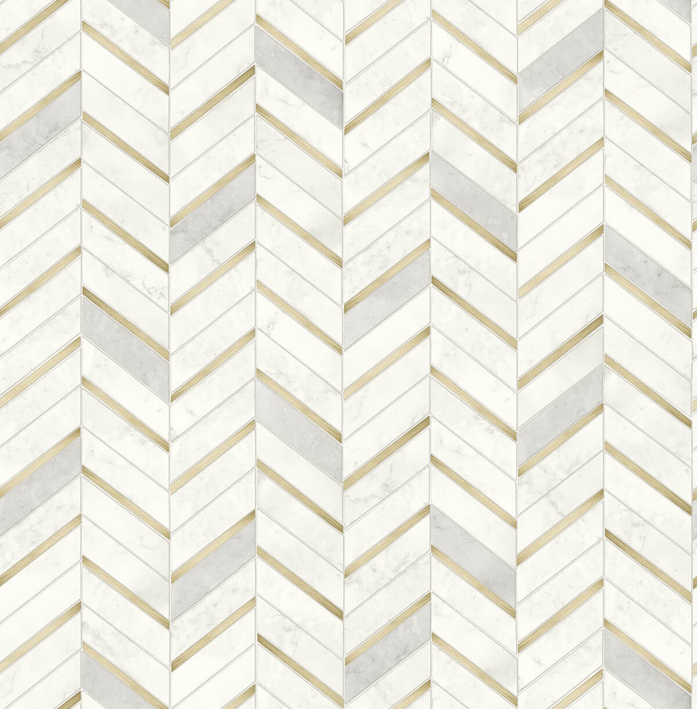 NW39205 faux chevron marble tile peel and stick removable wallpaper from NextWall