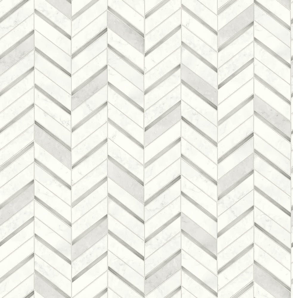 NW39208 faux chevron marble tile peel and stick removable wallpaper from NextWall