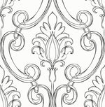 NextWall Sketched Damask Peel and Stick Removable Wallpaper
