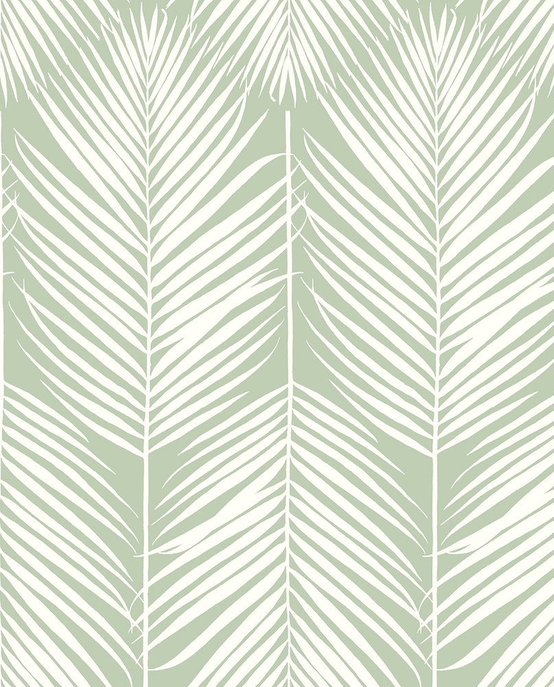 NextWall Palm Silhouette Peel and Stick Removable Wallpaper