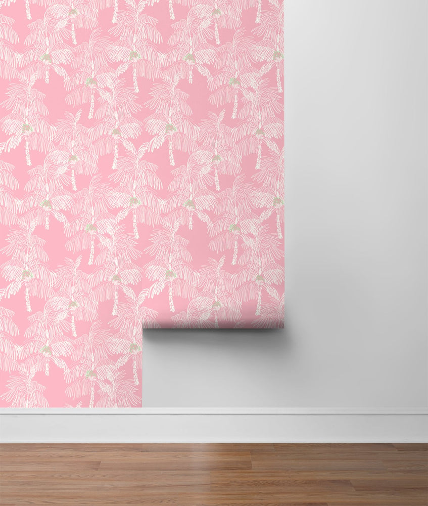 NW40001 Palm Beach botanical peel and stick removable wallpaper roll from NextWall