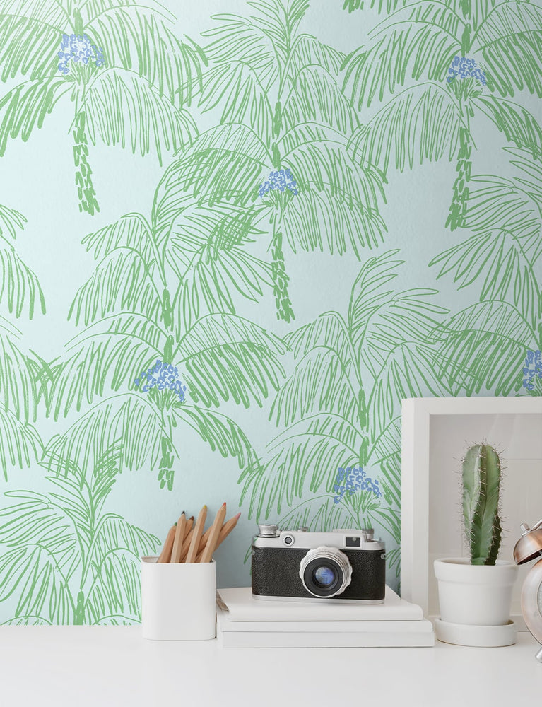 NW40002 Palm Beach botanical peel and stick removable wallpaper decor from NextWall