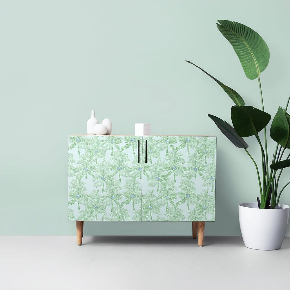 NW40002 Palm Beach botanical peel and stick removable wallpaper furniture from NextWall