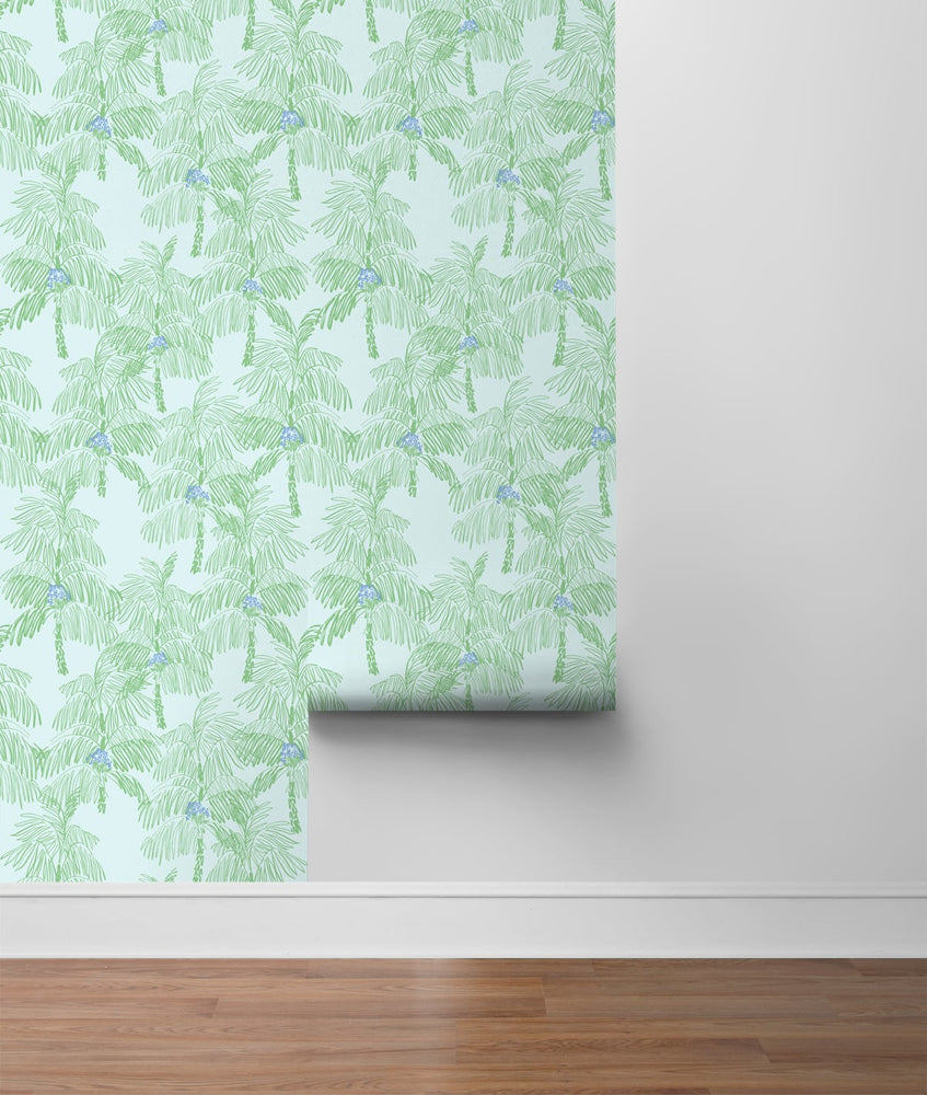 NW40002 Palm Beach botanical peel and stick removable wallpaper roll from NextWall