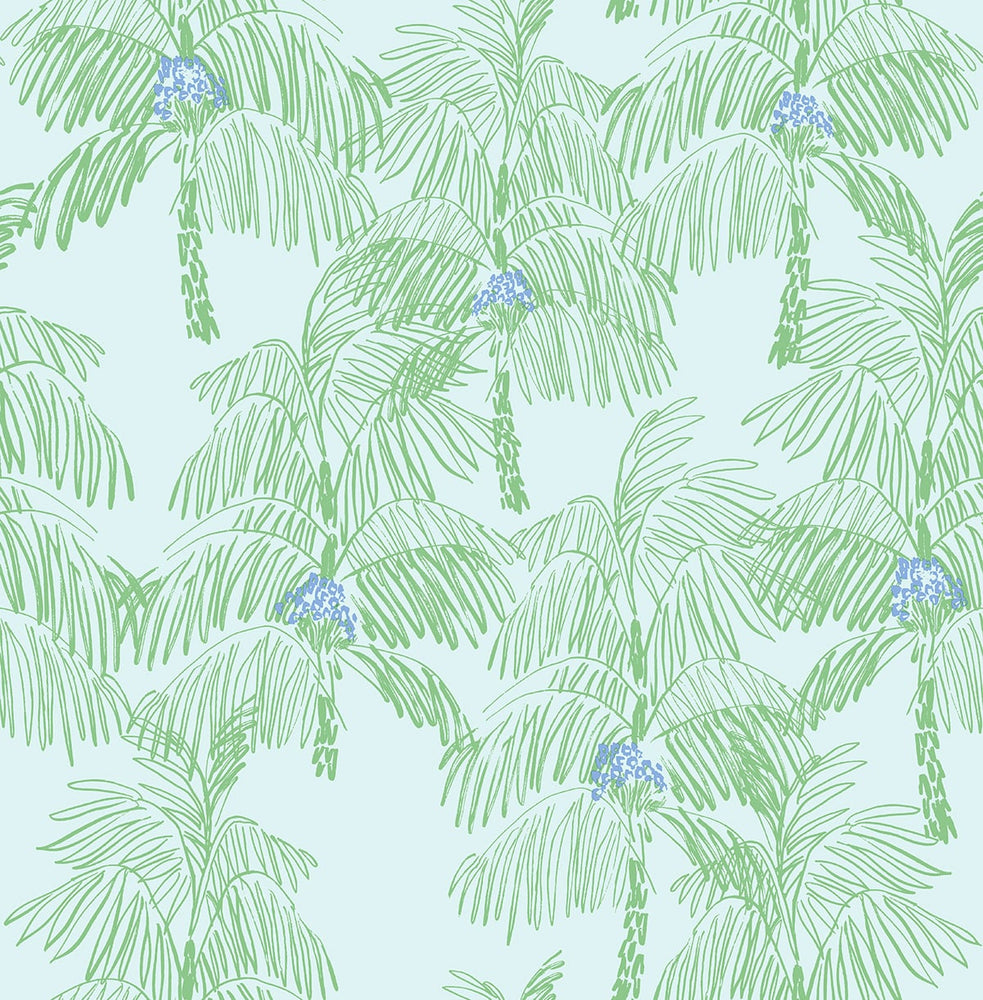 NW40002 Palm Beach botanical peel and stick removable wallpaper from NextWall