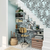 NW40012 Palm Beach botanical peel and stick removable wallpaper staircase from NextWall