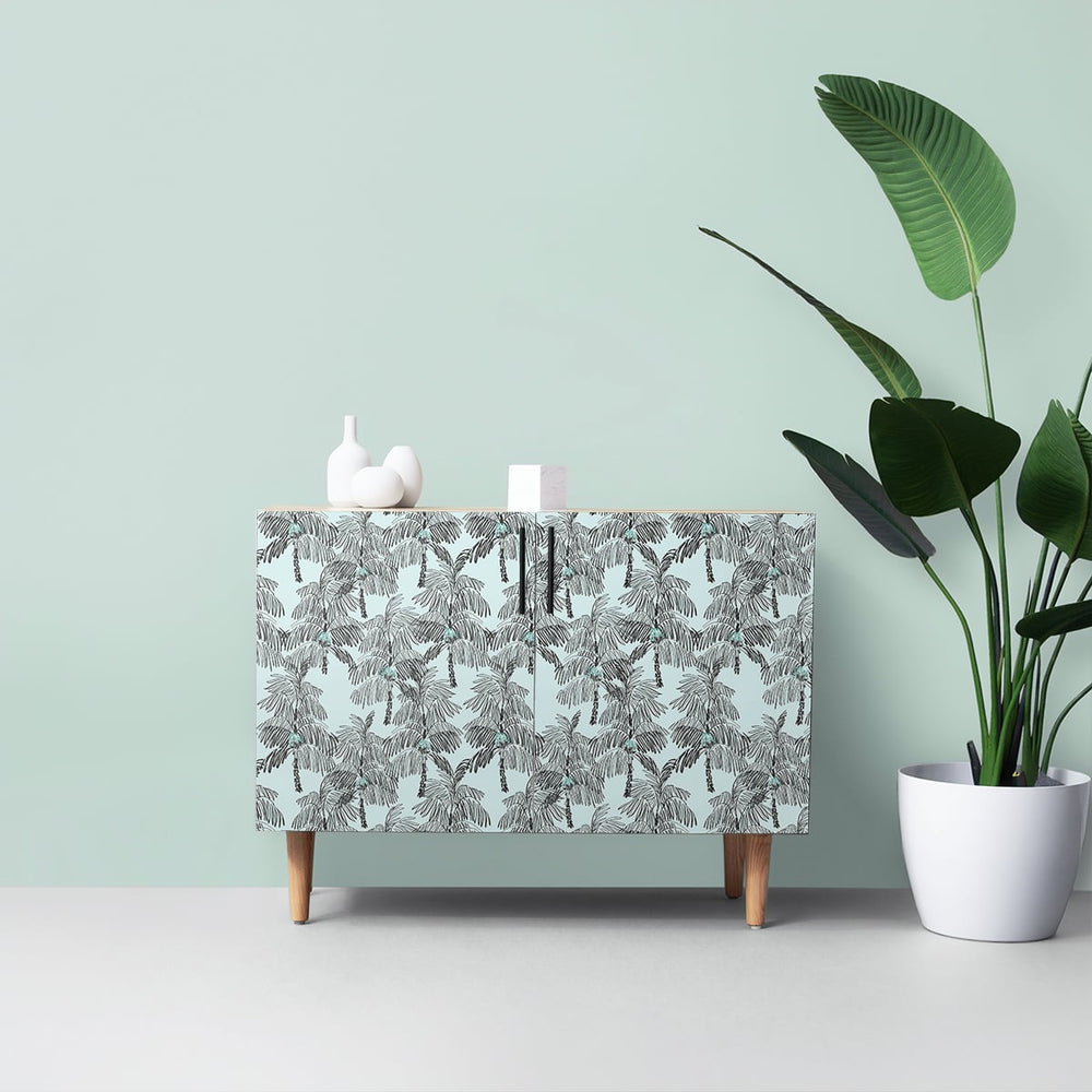 NW40012 Palm Beach botanical peel and stick removable wallpaper furniture from NextWall