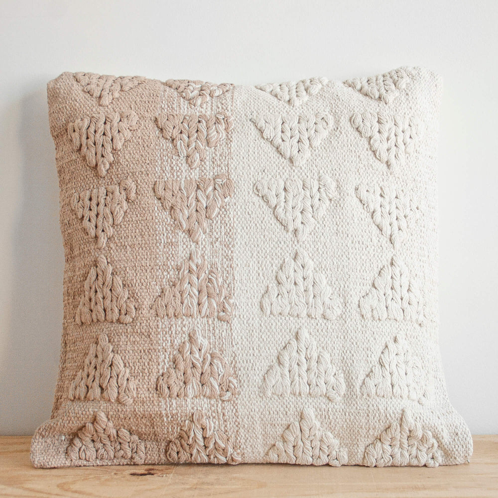 Naia Hand Woven Cotton Throw Pillow