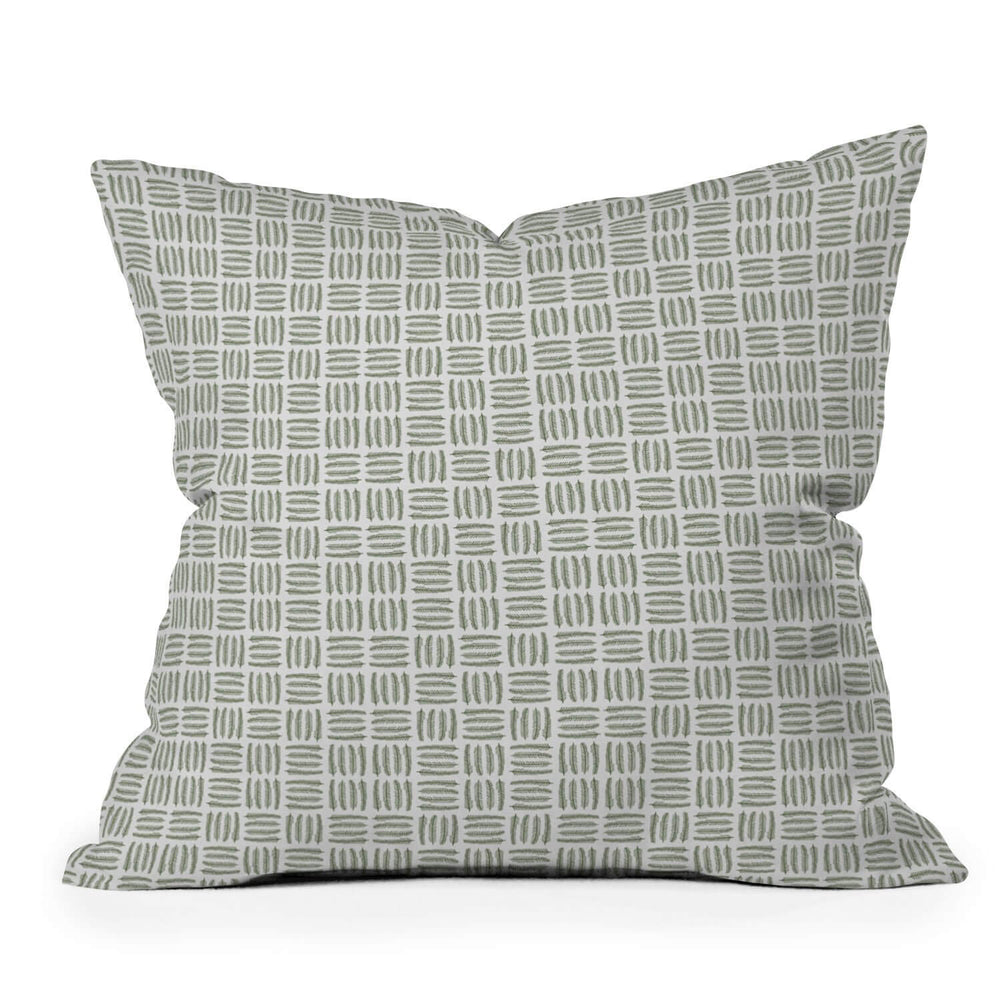 Pine Needle Checker Holiday Throw Pillow