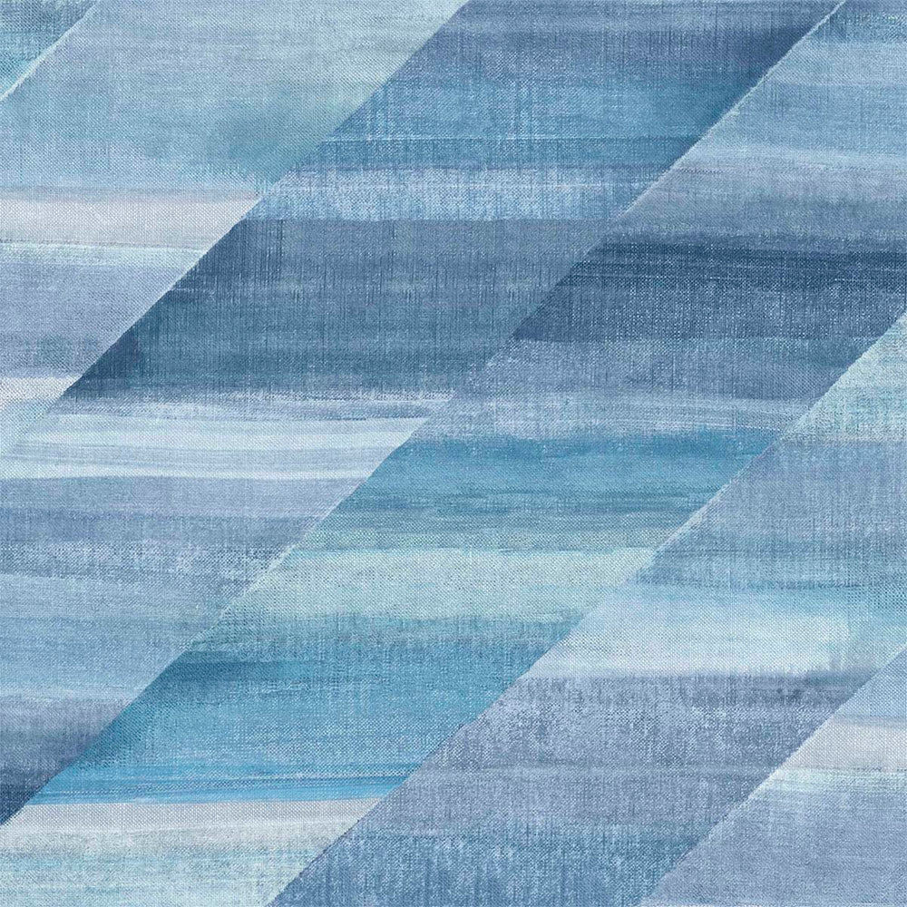 RY30302 blue rainbow diagonals striped wallpaper from the Boho Rhapsody collection by Seabrook Designs