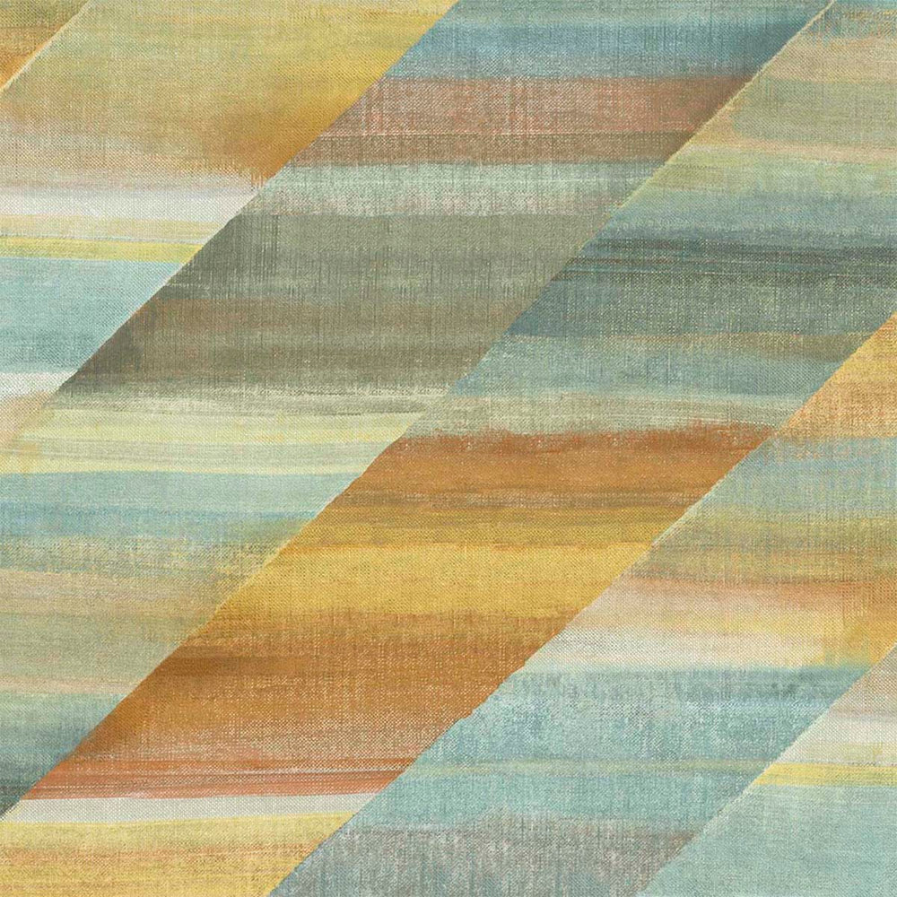 RY30303 multicolored rainbow diagonals striped wallpaper from the Boho Rhapsody collection by Seabrook Designs