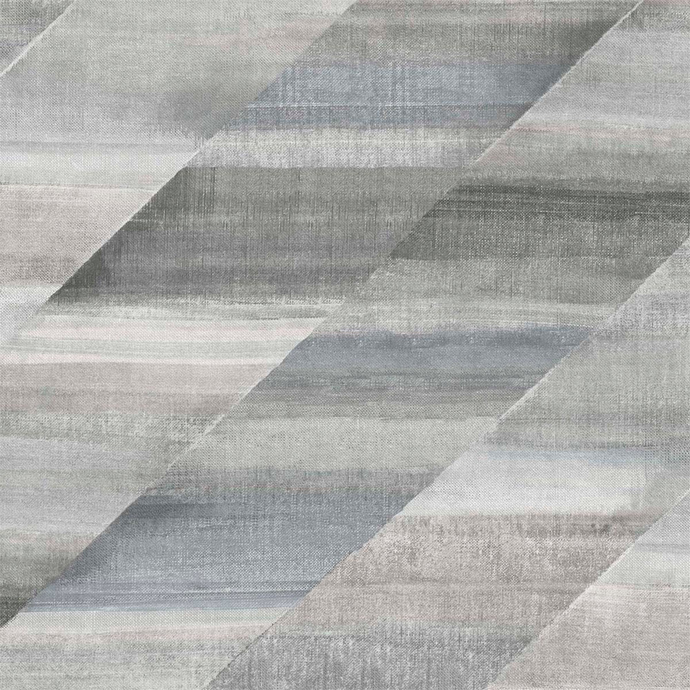 RY30310 gray rainbow diagonals striped wallpaper from the Boho Rhapsody collection by Seabrook Designs