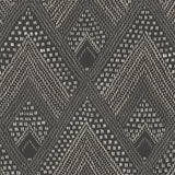 RY30500 black boho diamonds wallpaper from the Boho Rhapsody collection by Seabrook Designs