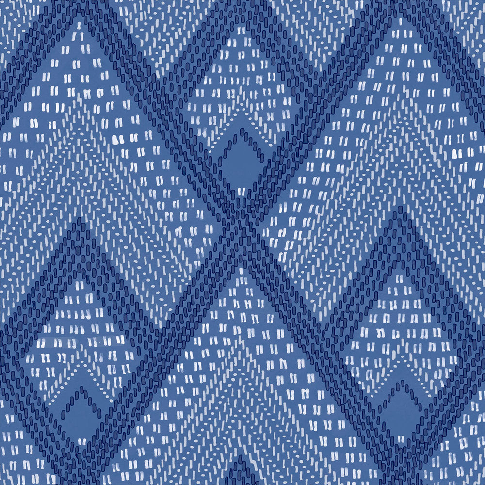 RY30502 blue boho diamonds wallpaper from the Boho Rhapsody collection by Seabrook Designs