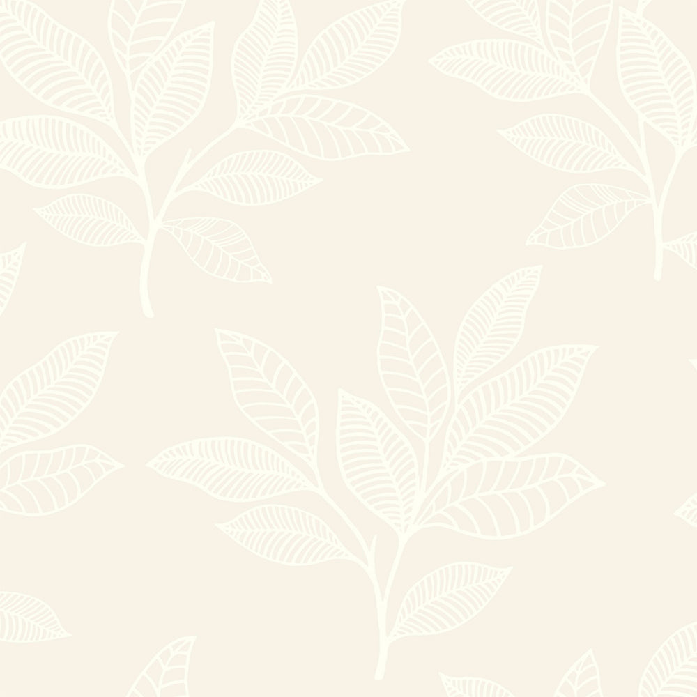 RY30820 cream paradise leaves botanical wallpaper from the Boho Rhapsody collection by Seabrook Designs