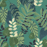 RY30914 green tropicana leaves botanical wallpaper from the Boho Rhapsody collection by Seabrook Designs