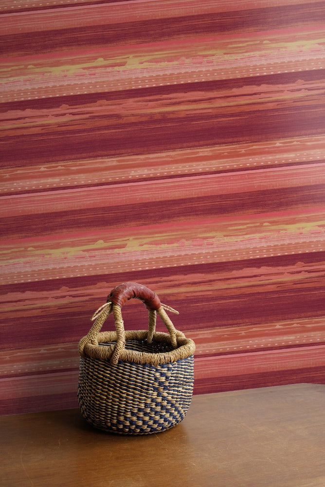 Seabrook Designs Boho Rhapsody Horizon Brushed Stripe Wallpaper