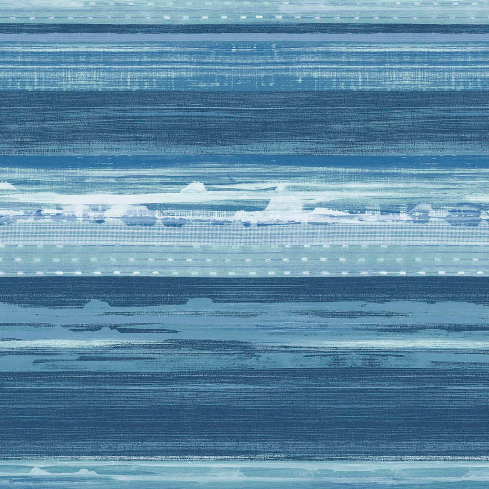 RY31302 blue horizon brushed stripe wallpaper from the Boho Rhapsody collection by Seabrook Designs