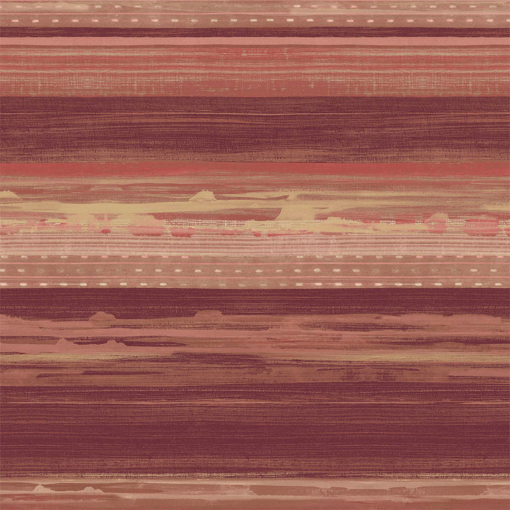RY31311 red horizon brushed stripe wallpaper from the Boho Rhapsody collection by Seabrook Designs