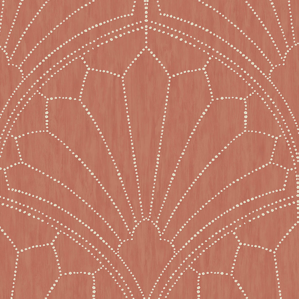 Seabrook Designs Boho Rhapsody Scallop Medallion Geometric Wallpaper