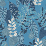 RY32012F tropicana leaves botanical fabric from the Boho Rhapsody collection by Seabrook Designs