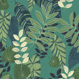 RY32014F tropicana leaves botanical fabric from the Boho Rhapsody collection by Seabrook Designs