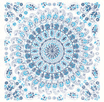 Seabrook Designs Boho Rhapsody Cerulean and Washed Denim Mandala Tile Fabric