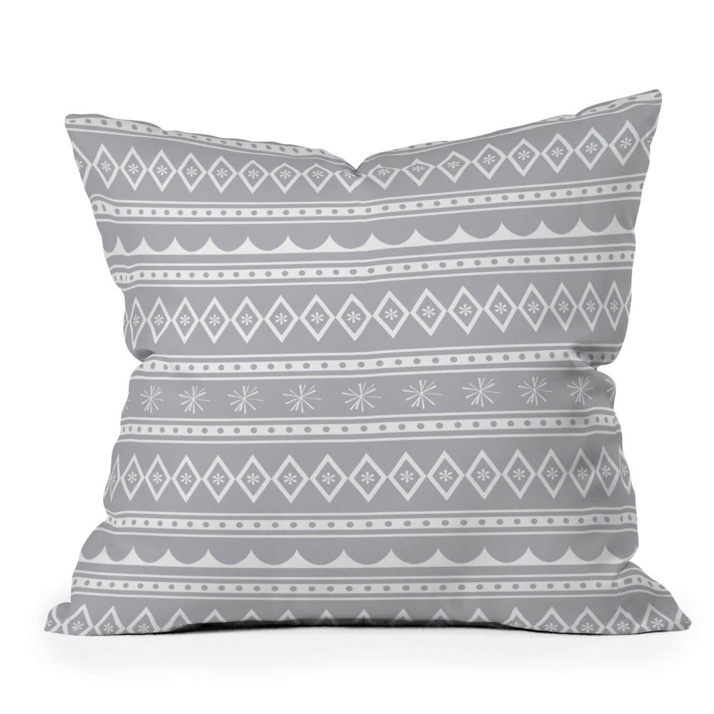 Retro Holiday Stripe Throw Pillow