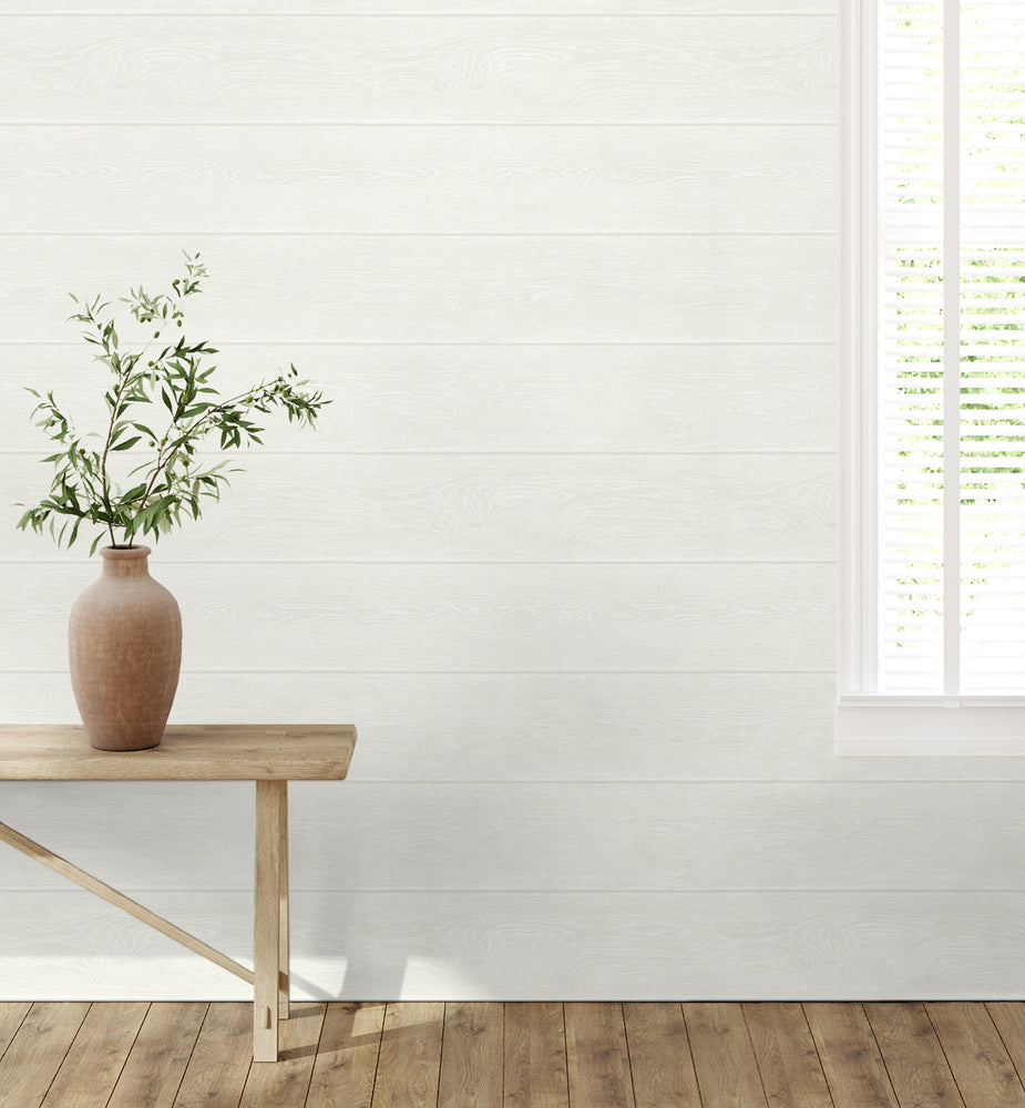 SG10100 Stacks shiplap peel and stick removable wallpaper decor from The Sojourn Collection by Stacy Garcia Home