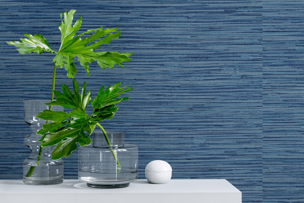 SG10202 faux grasscloth peel and stick removable wallpaper decor from The Sojourn Collection by Stacy Garcia Home