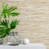 SG10203 faux grasscloth peel and stick removable wallpaper decor from The Sojourn Collection by Stacy Garcia Home