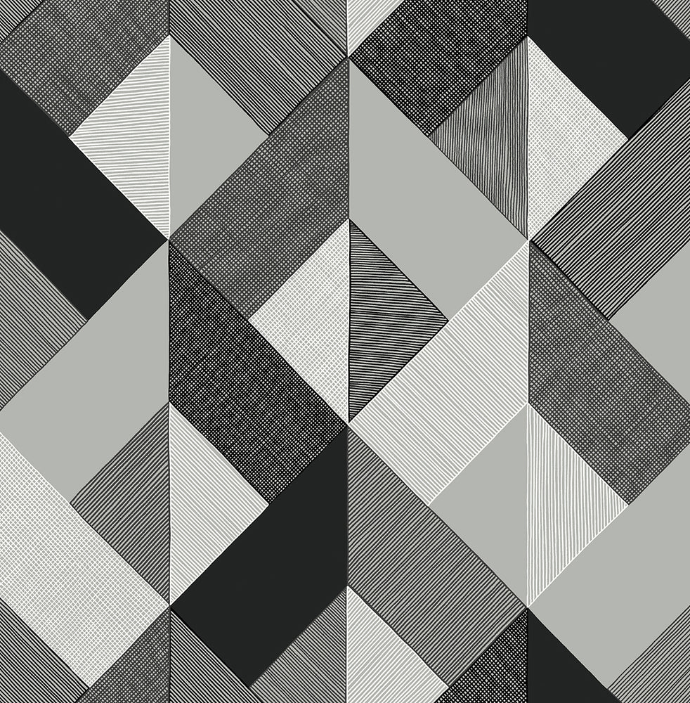 Stacy Garcia Home Marquetry Geometric Peel and Stick Removable Wallpaper