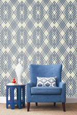 TA21302 Cayman lattice geometric wallpaper decor from the Tortuga collection by Seabrook Designs
