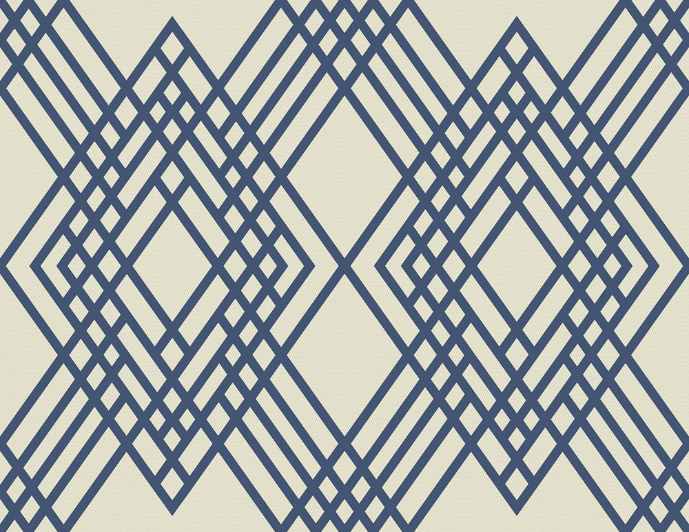 TA21302 Cayman lattice geometric wallpaper from the Tortuga collection by Seabrook Designs