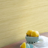 TC70303 kitchen yellow shantung silk embossed vinyl wallpaper from the More Textures collection by Seabrook Designs