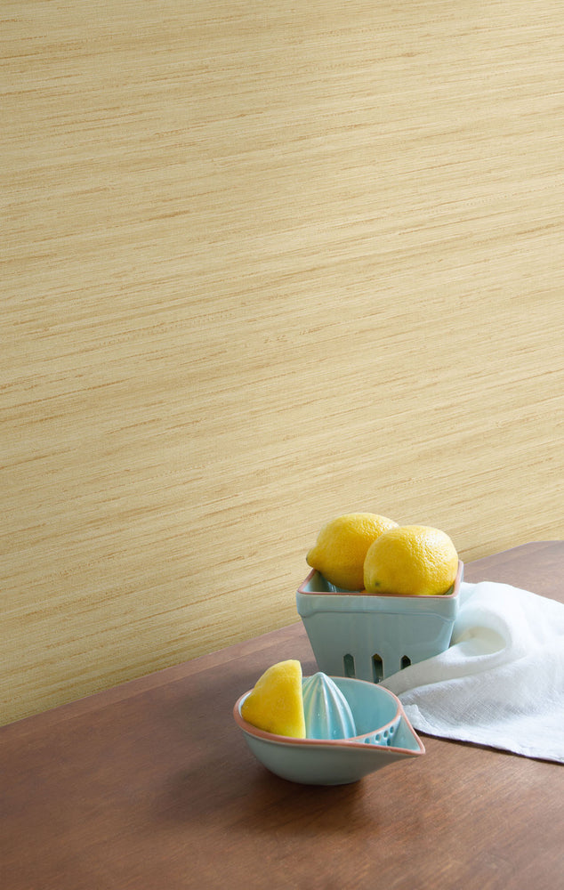 TC70306 kitchen gold shantung silk embossed vinyl wallpaper from the More Textures collection by Seabrook Designs