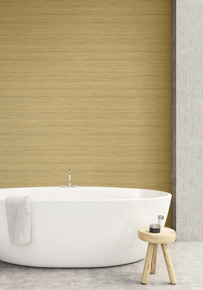 TC70307 bathroom neutral shantung silk embossed vinyl wallpaper from the More Textures collection by Seabrook Designs
