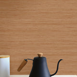 TC70316 kitchen orange shantung silk embossed vinyl wallpaper from the More Textures collection by Seabrook Designs