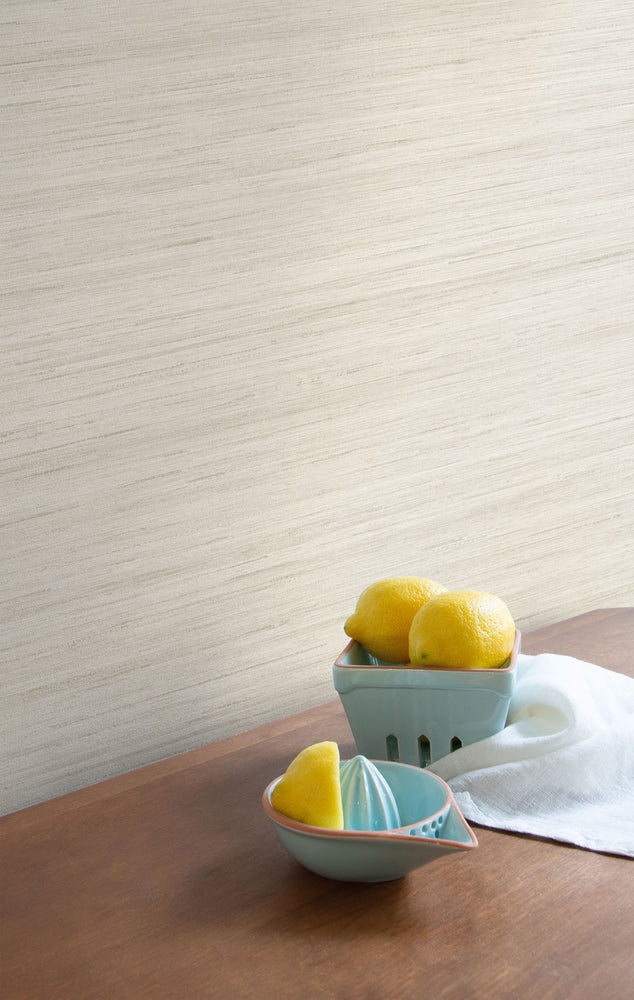 TC70321 kitchen cream shantung silk embossed vinyl wallpaper from the More Textures collection by Seabrook Designs