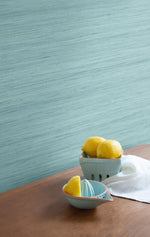 TC70322 kitchen blue shantung silk embossed vinyl wallpaper from the More Textures collection by Seabrook Designs