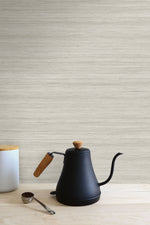 TC70324 kitchen tan shantung silk embossed vinyl wallpaper from the More Textures collection by Seabrook Designs